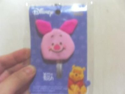 全新粉紅豬造型鑰匙套