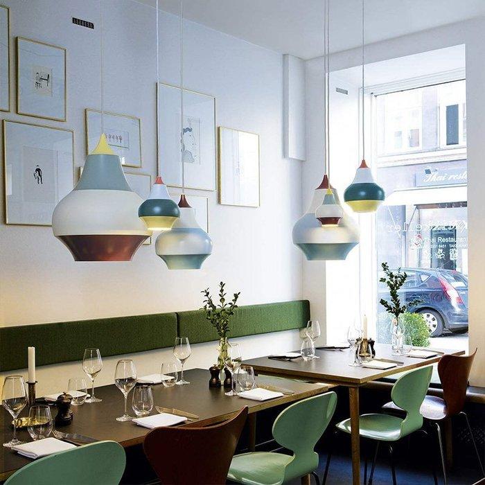 Gourd 丹麥 簡約餐桌吧台 吊燈 北歐創意拼色 書房吊燈 LED E27 110-220V