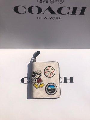 ㊣國際品牌COACH庫㊣美國代購COACH 3220【2件免運】Disney聯名款女皮夾 短夾 卡包 零錢包 米奇錢包