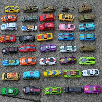 【高雄玩具店】1/64合金迷你汽車玩具回力校車口袋車警車公交車巴士男孩禮物小車