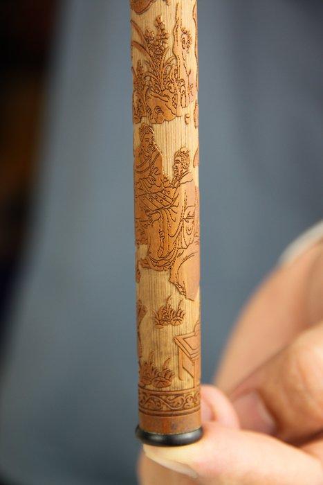 1023-回饋社會-特價品-竹管細雕香筒-香道收藏品-(郵寄免運費~建議預約自取確認)