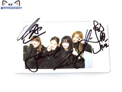 BLACKPINK 親筆簽名周邊 原版拍立得寶麗來照