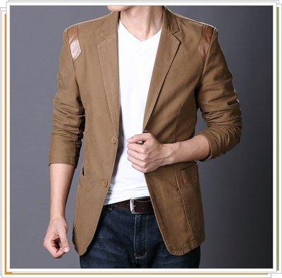 西裝外套 男西服-韓版修身休閒優質男外套3色5z7[獨家進口][米蘭精品]