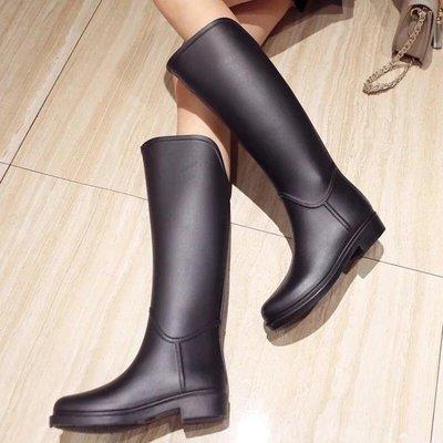 雨鞋 長筒雨靴馬靴防水雨鞋秋季新款百搭高筒靴套鞋長靴