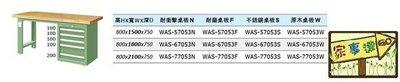 [家事達]台灣 TANKO-WAS-77053W 單櫃型重量型工作桌-原木桌板 特價
