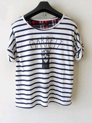 全新 日本品牌條紋相間造型上衣(000280)