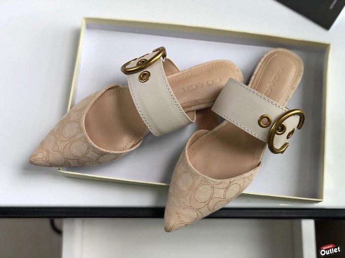 【全球購.COM】COACH 寇馳 2020新款 懶人鞋 滿版LOGO 休閒鞋 時尚精品 美國連線代購