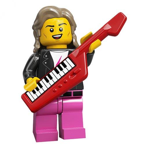 現貨【LEGO 樂高】積木/ Minifigures 人偶包系列: 20代 71027 | #14 80年代音樂人
