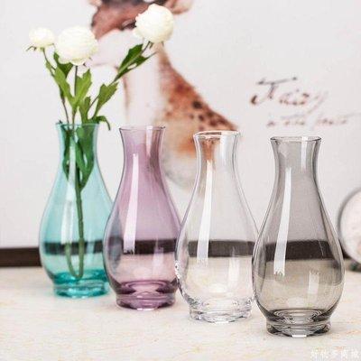 好物多商城 一支花花瓶玻璃透明綠蘿水培植物養花玻璃瓶客廳水養水培花器迷你