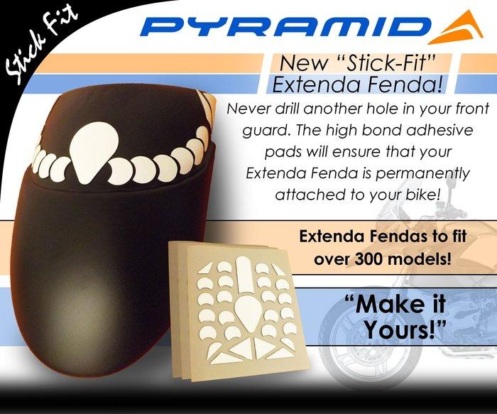 【趴趴騎士】PYRAMID Stick-Fit 前土除延長片 專用雙面膠 ( Stick fit )