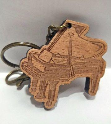 ╰☆美弦樂器☆╯樂器造型鑰匙圈木材質(平台鋼琴)