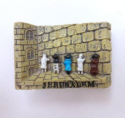 售完◎$200環遊世界◎旅遊/旅行紀念品磁鐵--以色列耶路撒冷哭牆