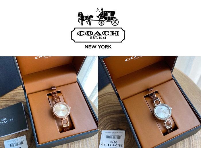 小皮美國代購 COACH 新款PAPK系列女士手錶 鑽石鑲邊錶盤 簡約內盤 鋼錶帶 簡單大方