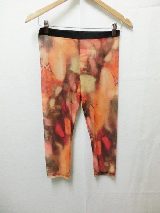 【Kstyle】義大利進口--金蔥渲染塗鴉7分絲襪內搭褲