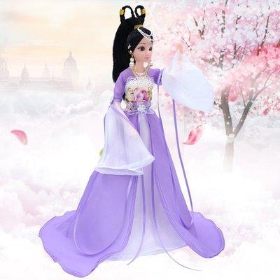 古代宮廷風仙女仿真芭比洋娃娃換裝大拖尾禮盒xw