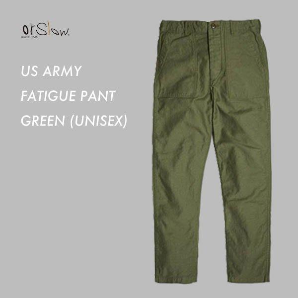 WaShiDa【01-5002-56】orSlow - US ARMY FATIGUE PANT GREEN 軍褲