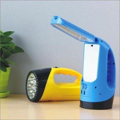 手電筒雅格充電式手電筒免郵多功能臺燈超亮LED手提燈應急燈YG3337