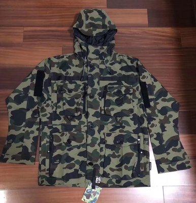 日本bathing ape Bape 1st Camo Military Jacket 四口袋迷彩外套衝鋒衣風衣 台北市