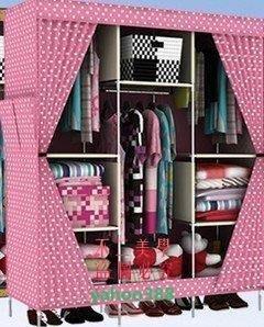 美學257櫃品折疊衣櫃大號鋼架加固簡易衣櫃櫥組合衣櫃簡易布衣櫃收納櫃 衣櫃❖69192