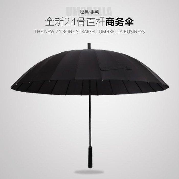 雨傘長柄 雙人加大號加固24骨商務防風男女戶外大雨傘三人創意雨傘