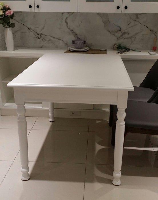 美生活館---全新美式鄉村家具風格 ---艾莉純白色餐桌--工作桌/餐桌/展示桌--餐椅另購/桌另有寬 140 可購