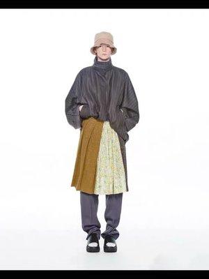 PUSH半身裙 20秋冬半身裙女多色印花格子碎花拼接20秋季新款