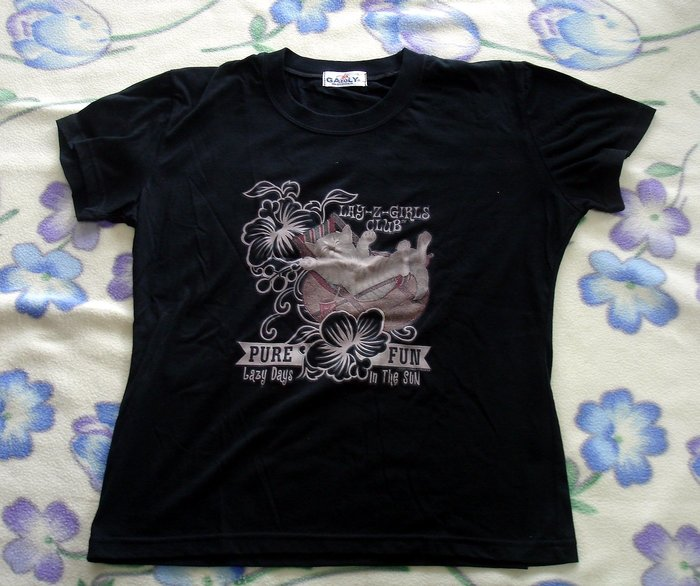 T恤-慵懶偷閒的貓-加路立Galuly 短T恤--DSC03419