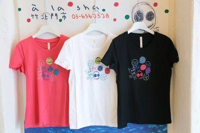 【無法三日內匯款者勿下標】a la sha 家族貼布繡短袖T 黑S(全新)