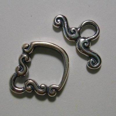 琥珀貓~【925純銀材料配件】OT扣~N7188~12.5X14mm造型O圈~一組