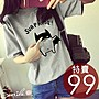 【D966】SMILE-可愛春感.卡通蝙蝠俠圓領寬鬆短袖T恤