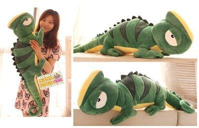 ☆NANA日系☆K028限定發售☆個性變色龍玩偶 綠色大蜥蜴ビッグリザード娃娃抱枕居家擺設超大100CM☆批價$350元
