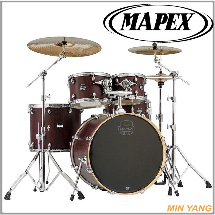【民揚樂器】爵士鼓 MAPEX MA-529SFRW 紅斑馬紋