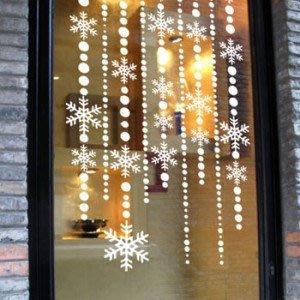 小妮子的家@聖誕節門簾壁貼/牆貼/玻璃貼/磁磚貼/汽車貼/家具貼