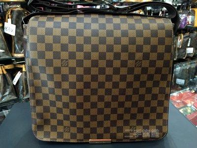 二手旗艦 LOUIS VUITTON LV N45258 咖啡格紋斜背包(王建民包) (中友店)12801