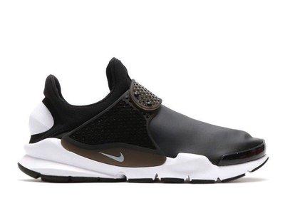 NIKE SOCK DART SE 皮革 襪套 防水 機能布 黑白 男鞋 911404-001-400 另有深藍 慢跑潮流鞋