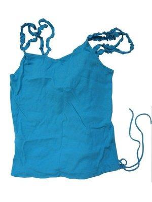 全新 AX A/X Armani Exchange 純棉 內搭 細肩帶 上衣 小可愛 夏天 性感 舒適 藍綠色 S 甜@紐約