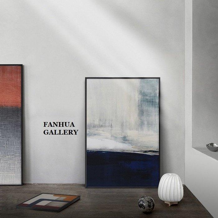 C - R - A - Z - Y - T - O - W - N 藍白抽象藝術掛畫現代簡約玄關裝飾畫餐廳公司接待室掛畫