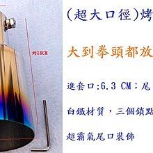超大 尾口徑 直通尾飾管 鈦管 改裝 排氣管 尾飾管 直通管 烤藍管 尾管