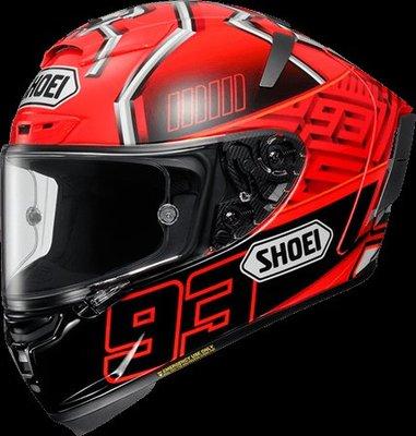 《鼎鴻》SHOEI全罩式頂級選手彩繪安全帽X-14 MARQUEZ 4 TC-1 紅螞蟻
