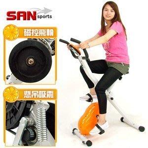 【推薦+】SAN SPORTS 飛輪X磁控健身車C121-340另售電動跑步機.折疊自行車腳踏車.踏步機美腿機 新竹縣