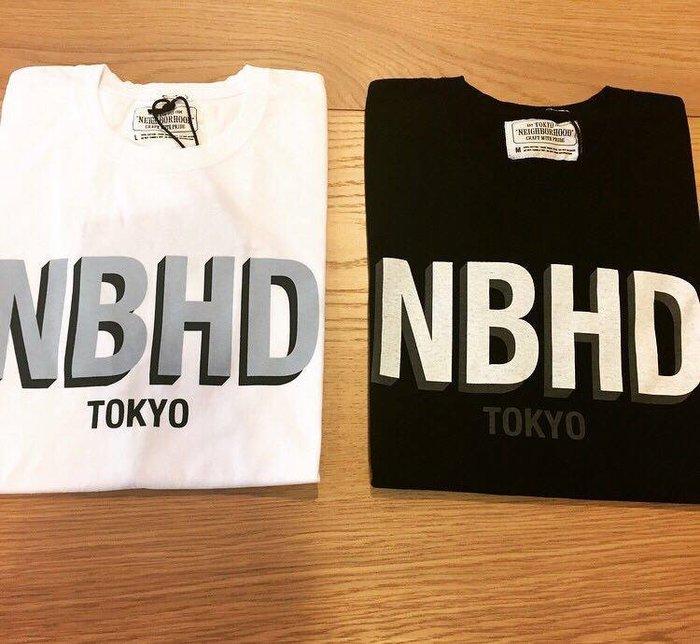 ☆AirRoom☆【現貨】2016AW Neighborhood NBHD / C-TEE 短袖 白 黑 字體 金標