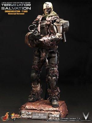 HOT TOYS MMS105 魔鬼終結者4 未來救贖 T-600 骨骼機器人 半邊人皮面具限定版