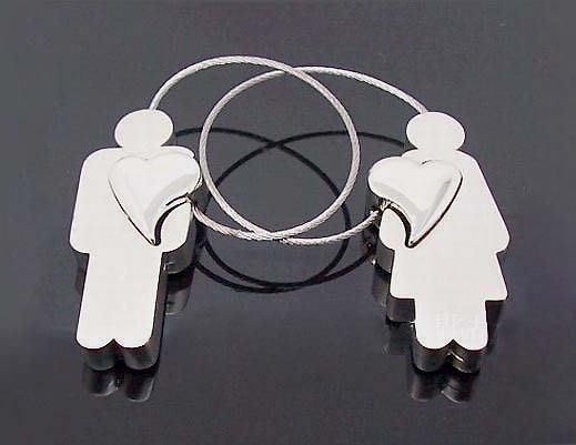 ☆創意小物店☆情侶鑰匙扣(掏心男女) 鑰匙圈/創意可愛金屬鑰匙圈 時尚造型個性飾品