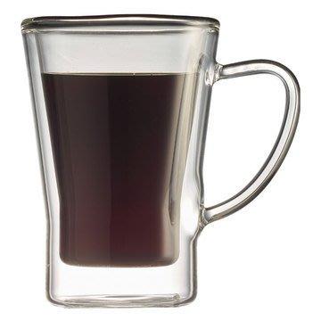 ☆°萊亞生活館°【TIAMO 雙層玻璃杯 HG2053 】170cc-2入 /有把手雙層玻璃馬克杯-雙層咖啡杯