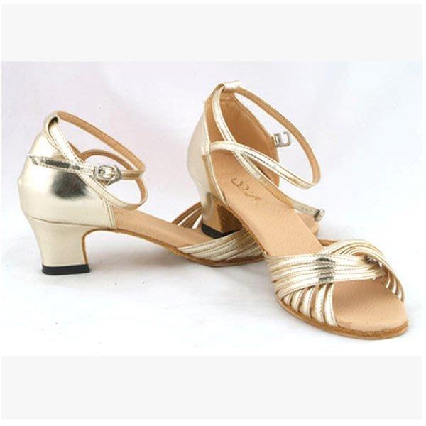 5Cgo【鴿樓】會員有優惠 6964027863 金色成人女式拉丁舞子女款跳舞鞋現代舞廣場舞蹈鞋軟底低跟