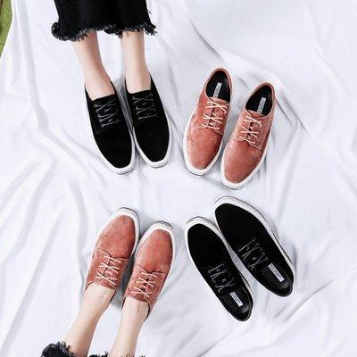 布洛克鞋女厚底2018春季新款系帶方頭復古松糕鞋女英倫學院風女鞋