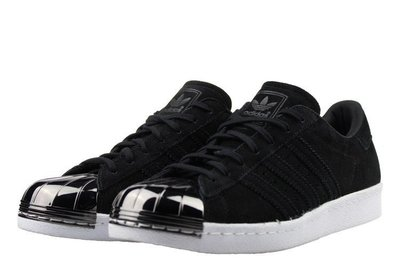 =CodE= ADIDAS SUPERSTAR 80S METAL TOE W 金屬頭麂皮休閒鞋(黑銀)S75056 女 台北市