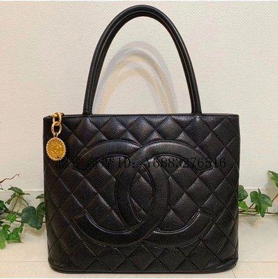 二手正品 Chanel 全黑 手提包 肩背包A01804 黑色小牛皮 菱格  超讚