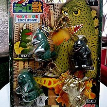 【 金王記拍寶網 】(常5) W5258 早期日版 老玩具 哥吉拉 噴火花玩具4隻一套  罕見稀少