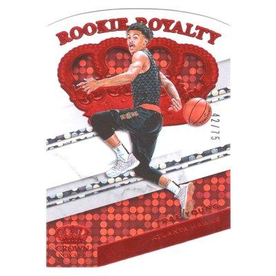 (新人RC限量卡) Trae Young / Crown Royale Royalty Rookie系列限量75張新人RC限量卡 2018-19